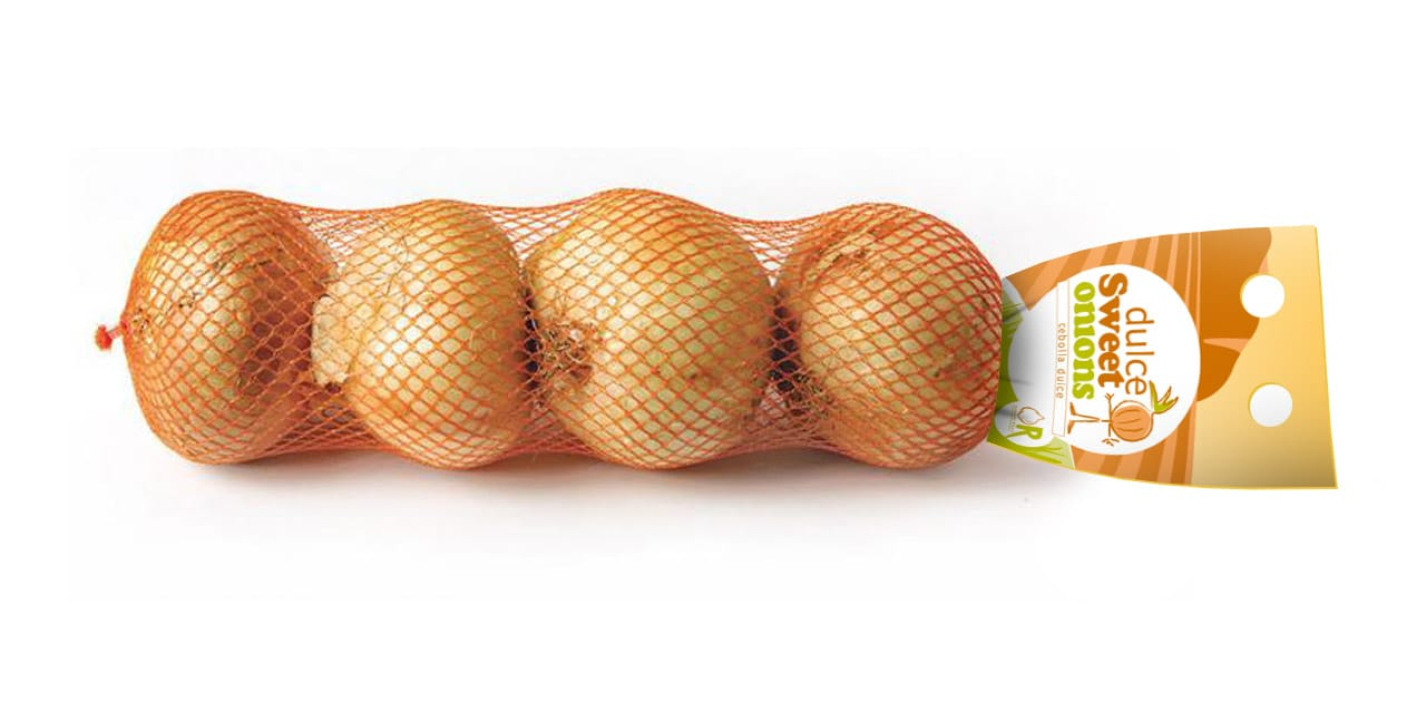 Malla cebollas packaging Dulce Sweet Onions